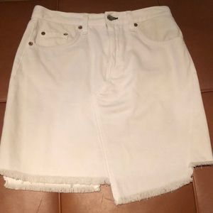 Rag and bone asymmetric white demin skirt